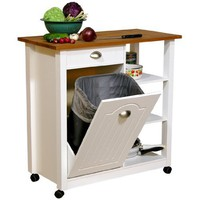 Venture Horizon Butcher Block Bin Double Wide w/pantry