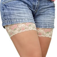 by (VeroLace) Anti Chafing Thigh Bands rubbing skin thighs irritation legs lace bands chub rub underware antichafing inner thighs skin protection