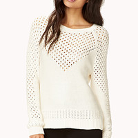 Open-Knit V Sweater | FOREVER 21 - 2000128293