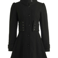 The Importance of Being Onyx Coat | Mod Retro Vintage Coats | ModCloth.com