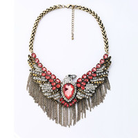 Flying Eagle Statement Necklace 051871B