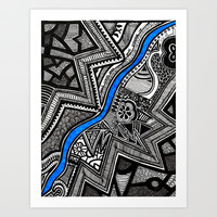 Flow  Art Print by Creative Chaos