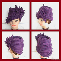 Crochet Cloche Hat Couture Crochet Hat by strawberrycouture
