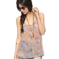 Pleated Floral Top | FOREVER21 - 2011409181