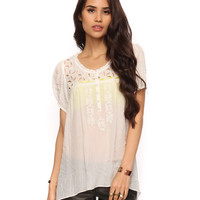 Sheer Embroidered Top | FOREVER21 - 2000035023