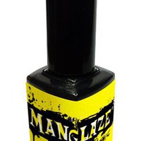 ManGlaze Matte Nail Polish, Matte Is Murder - Black (Lefty Label Art)
