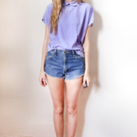 tea and tulips boutique - one of a kind vintage. — purple pan blouse