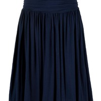 Buy Farhi by Nicole Farhi Jersey Pleated Skirt, Navy online at JohnLewis.com - John Lewis