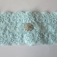 Simply Chic Bridal Garter - Something Blue