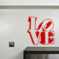 Love Robert Indiana wall sticker Hu2 Design