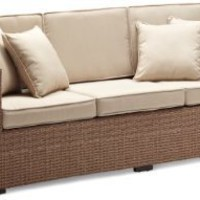 Strathwood Griffen All-Weather Wicker 3-Seater Sofa, Natural