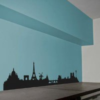 Skyline Paris wall sticker Hu2 Design
