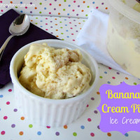 Crazy for Crust: Banana Cream Pie Ice Cream {without a machine!}