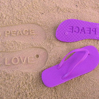 Peace and Love Flip Flops by Flipside Flip Flops