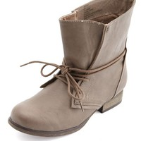 Wrapped Lace-Up Ankle Bootie: Charlotte Russe