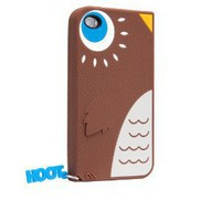 Amazon.com: Hoot - Silicone iPhone 4 / 4S Case Brown: Cell Phones &amp; Accessories