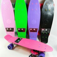 "Penny Board 22.5"" x 6"" Retro Cliche Plastic Mini Cruiser Skateboard Banana Board"