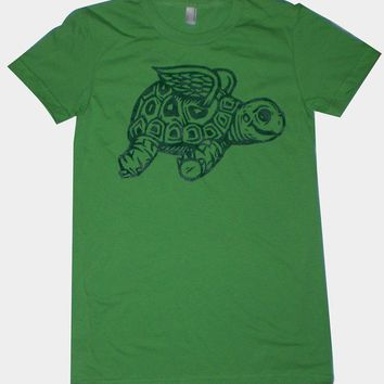 Flying Tortoise Womens TShirt S M L XL in 6 by MisNopalesArt