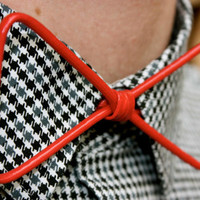 Red Wire BowTie by treiStore on Etsy