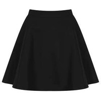 Textured Pocket Skater Skirt - Skirts  - Clothing