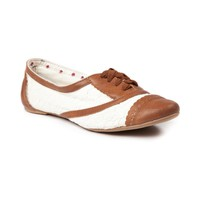 Womens Not Rated Borderline Flats, Tan, at Journeys Shoes