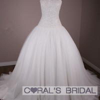MS222(f) full crystal beading bodice ball bridal gown coralsbridal