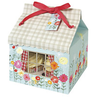 Floral/gingham large cake box