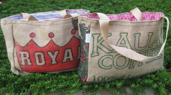 Pick Two EcoFriendly / Recycled Market Tote by WhiteAppleThreads