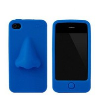 3d Blue Cool Nose Soft Cover Case for Iphone 4/4s
