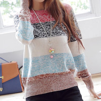 A 080520 u Striped pullover knitted26