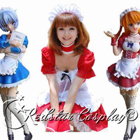 Neon Genesis Evangelion Ayanami Rei Maid Cosplay Costume - Made in Any size