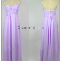 gorgeous lilac a-line prom dresses    elegant sweetheart floor length prom dress    simple chiffon gowns for evening