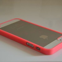 Rose Pink Lovely Soft Trim Ultra High Clear Back Hard Cover Bumper Case for iPhone 5 5G:Amazon:Cell Phones & Accessories