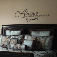 Always kiss me goodnight wall decal by weiweisbabies