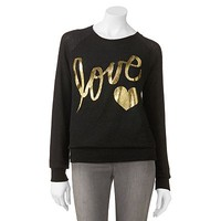 Foil Love Sweater - Juniors
