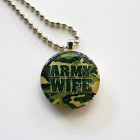 Army Wife Green Support Our Troops circle by HConwayPhotography