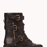 Statement-Making Combat Boots | FOREVER 21 - 2078916598
