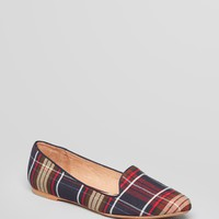 Joie Pointed Toe Smoking Flats - Day Dreaming Plaid | Bloomingdale's