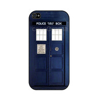 TARDIS Rubber iPhone Case iPhone 4 iPhone 4 case by caseOrama