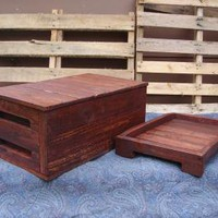 Primitive Wood Box with Hidden Compartment and by jdwallingtons