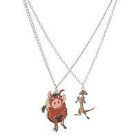 Disney The Lion King Timon & Pumbaa BFF Necklace 2 Pack | Hot Topic