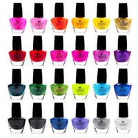 Shany Cosmetics The Cosmopolitan Nail Polish Set (24 Colors Premium Quality and Quick Dry), 40 Fluid Ounce: Beauty