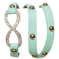 Rhinestone Inifinity Wrap Bracelet | Shop Junior Clothing at Wet Seal