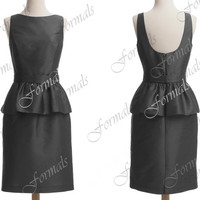 Straps Taffeta  Black Short Cocktail Dresses,  Wedding Party Dresses, Formal Gown, Bridesmaid Dresses