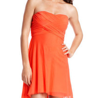 Charlotte Russe - Draped-Mesh Tube Dress