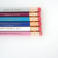 BE FABULOUS Pencil set of 6. do something by thecarboncrusader