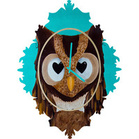 DENY Designs Home Accessories | Mandy Hazell Owl Love You Baroque Clock