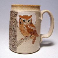 $28.00 Owl and Moon Pottery Coffee Mega Mug Limited Series by JimAndGina