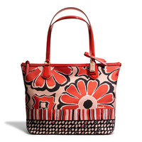 COACH Poppy Floral Scarf Print Small Tote at Von Maur