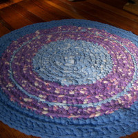Rug  Plush Purple by upcycledjeanius on Etsy